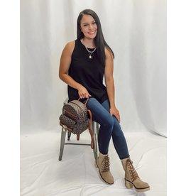 The Skyler Mini Backpack - Brown