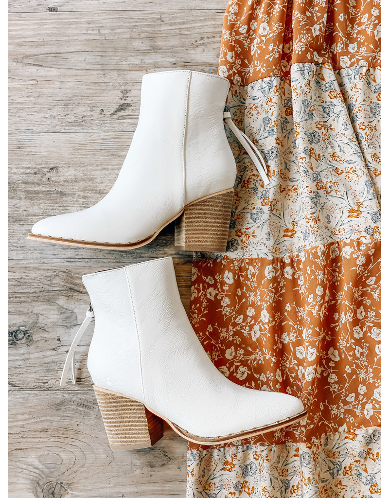 The Weslee Faux Leather Booties