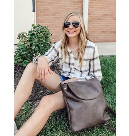 The Sloan Convertible Backpack - Brown