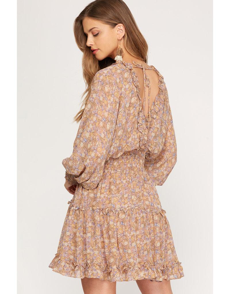 The Colette Long Sleeve Floral Dress