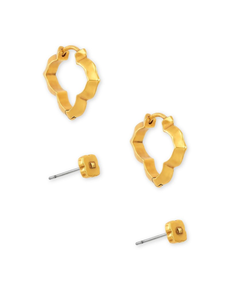 The Abbie Stud & Huggie Earring Set