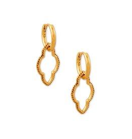 The Abbie Huggie Earrings in Vintage Gold