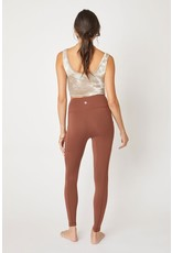 The KanCan Pocketed Leggings - Chocolate