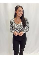 The Bryana Open Back Leopard Bodysuit