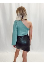 The Never Settle One Shoulder Sweater Top