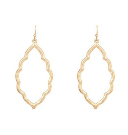 Turkish Shape Gold Earrings