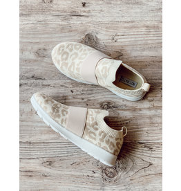 The Jia Slip On Leopard Sneakers - Cream