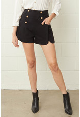 The Jaya Gold Button Front Shorts