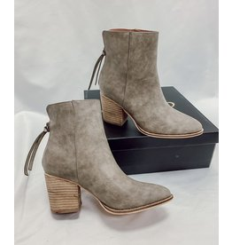 The Wendy Faux Leather Booties - Grey