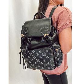Edelle Drawstring Backpack - Black