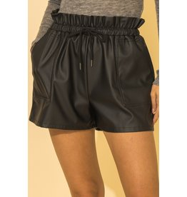 The Brittany Faux Leather Shorts