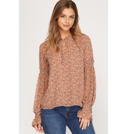 The Tory Long Sleeve Floral Blouse