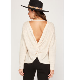 The Mark Twisted Back Long Sleeve Top
