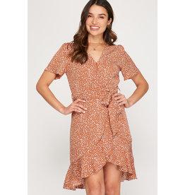 The Joyner Flutter Sleeve Printed Dress