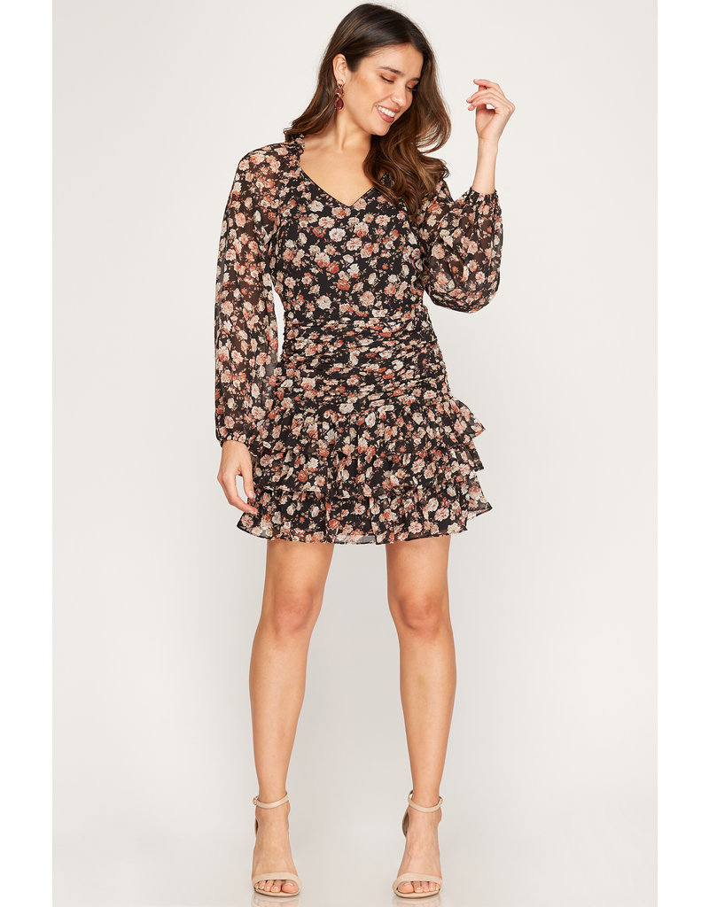 The Jonesy Floral Tiered Dress