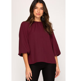 The Levy Bubble Sleeve Blouse