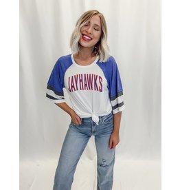 The Varsity Vibes Top - Kansas Jayhawks