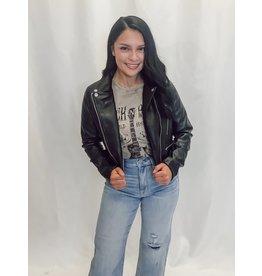 The Courtney Leather Moto Jacket