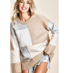 The Your Wish Color Block Sweater