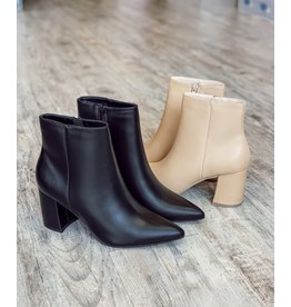 The Hillary Faux Leather Booties