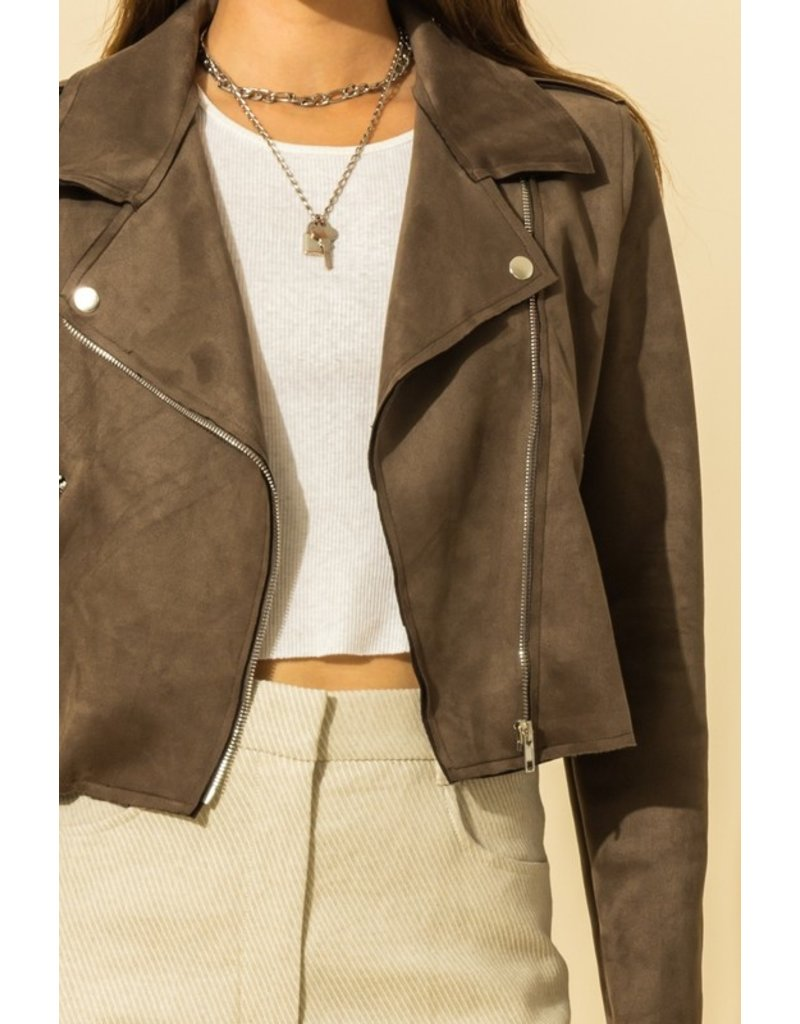 The Laney Suede Moto Jacket