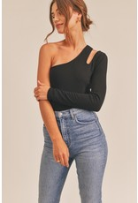 The Woah Cut Out One Shoulder Top