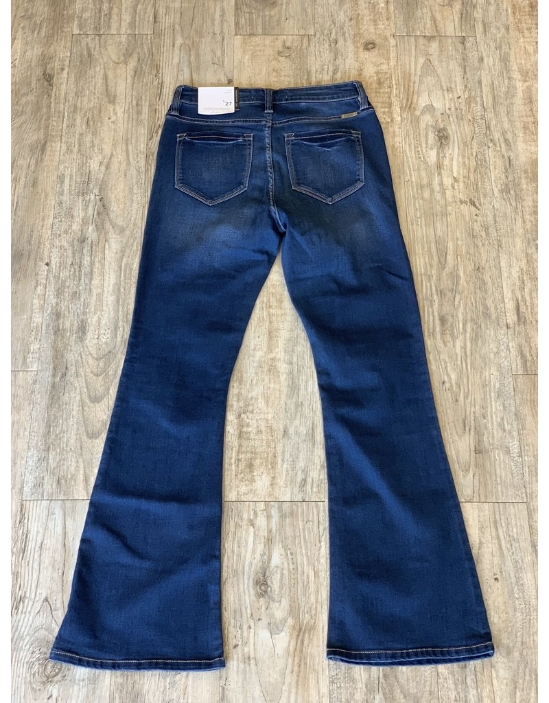 The Button Fly Flare Jeans - Petite Style