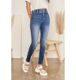 The Christina High Rise Double Button Skinny