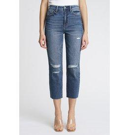 The Ally High Rise Straight Leg Jeans - Dark Wash