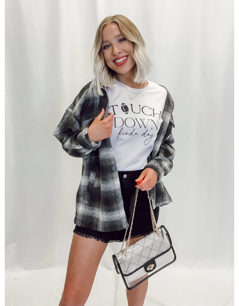 The Terry Oversized Pocketed Plaid Shacket