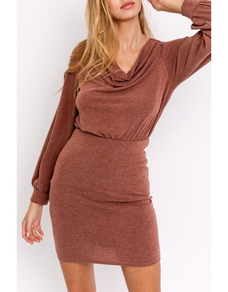 The Sassy Cowl Neck Mini Dress
