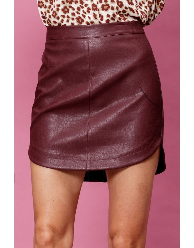 The Zuri Faux Leather Skirt