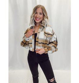 The Plaid About You Cropped Shacket