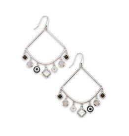 The Gemma Silver Drop Earrings in Neutral Mix