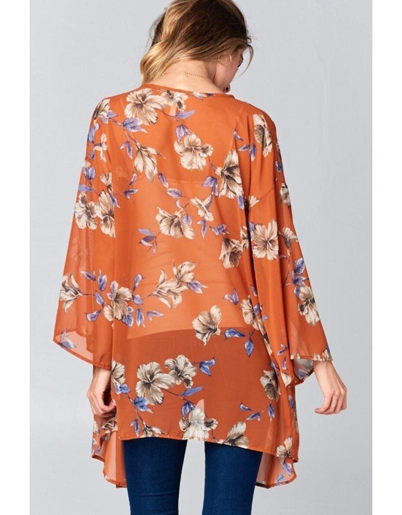 The Camden Floral Chiffon Kimono