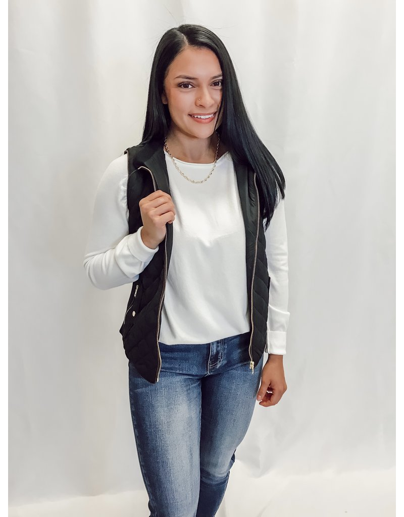 Love Tree Connor Quilted Vest