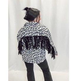 The Ventura Leopard Fringe Jacket
