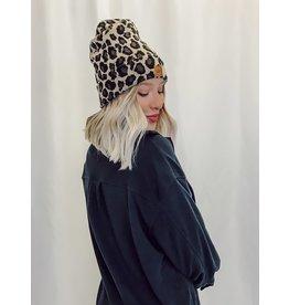 The Roar Leopard Print Beanie