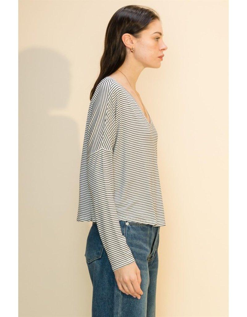 The Lauretta Striped Long Sleeve Top