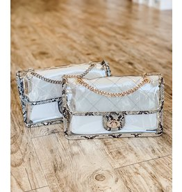 The Madden Clear Quilted Crossbody Purse