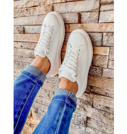 The Rover Lace Up Sneakers - White