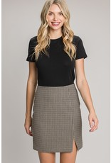 The Delilah Twill Check Pencil Skirt