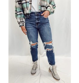 The Tobi Distressed Mom Jeans