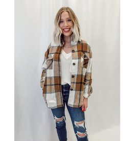 The Harvest Pocketed Plaid Shacket