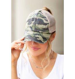 The CC Distressed Camo Baseball Hat