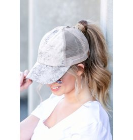The CC Faux Leather Baseball Hat