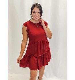 The Crimson Girl Babydoll Dress