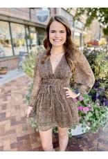 The Love Note Leopard Metallic Dress