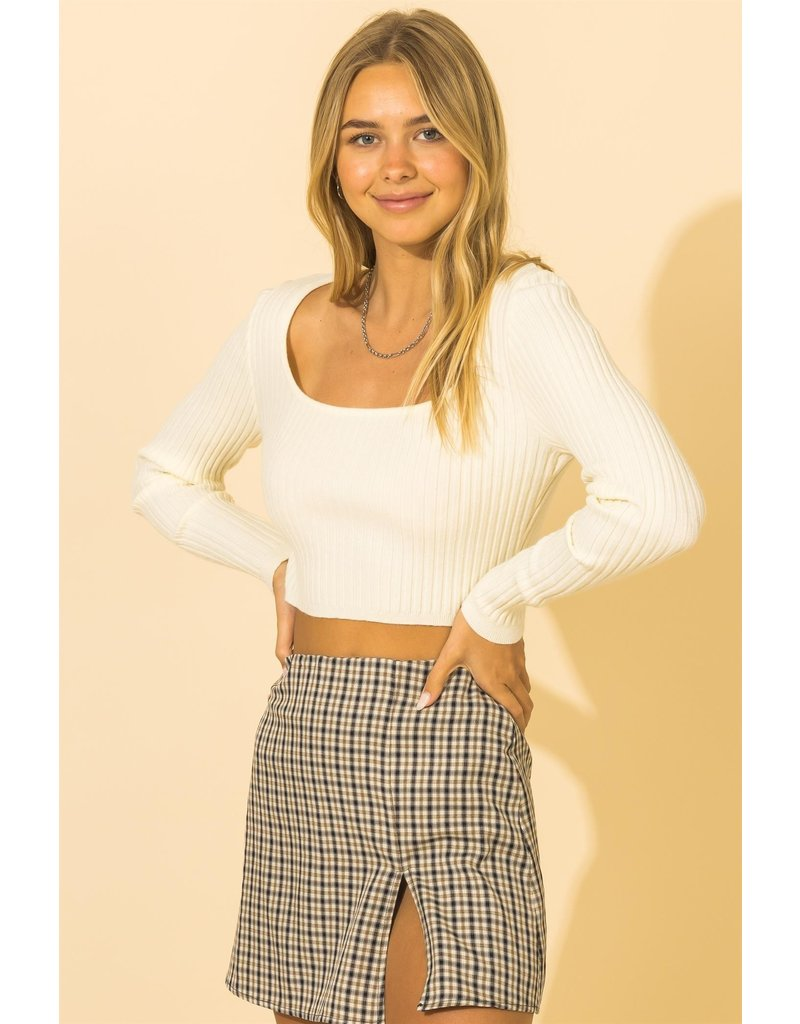 The My Type Ribbed Crop Top