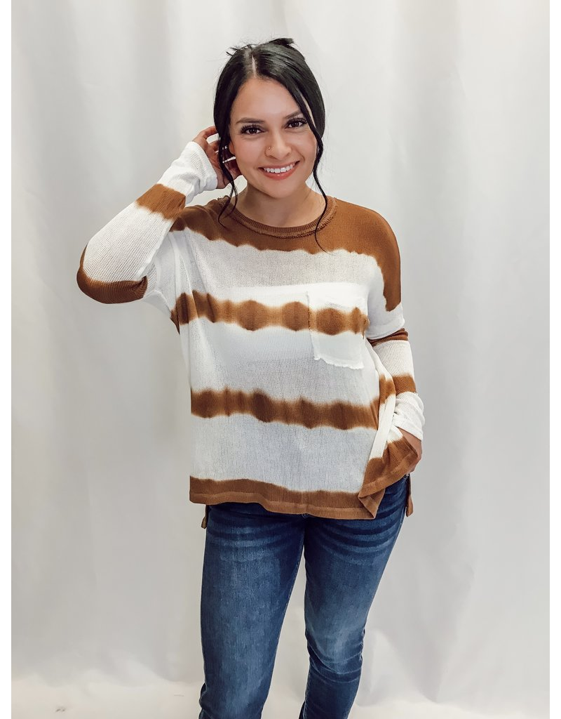The Reoccurring Thoughts Tie Dye Striped Top
